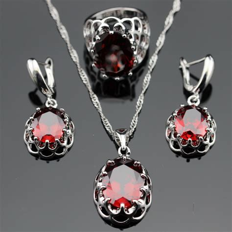 for jewelry garnet bridal jewelry set