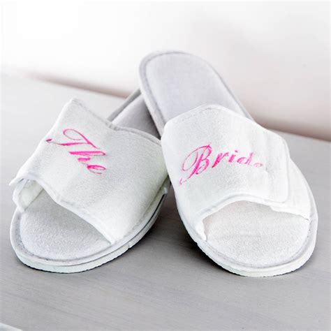 personalised slippers personalised wedding slippers by duncan stewart textiles
