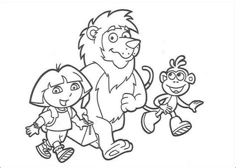 coloring pages of dora and friends dora s friends coloring pages hellokids com