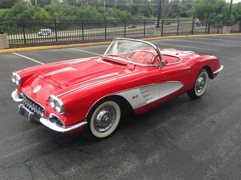 classic cars convertible all american classic cars 1958 chevrolet corvette 2 door