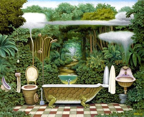 jungle bathroom bathroom jacek yerka wikiart org encyclopedia of