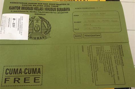 biaya membuat paspor wisata pengalaman membuat epaspor di imigrasi surabaya paket