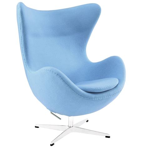 Sky Blue Chair by Magnum Wool Chair Modern Furniture Brickell Collection