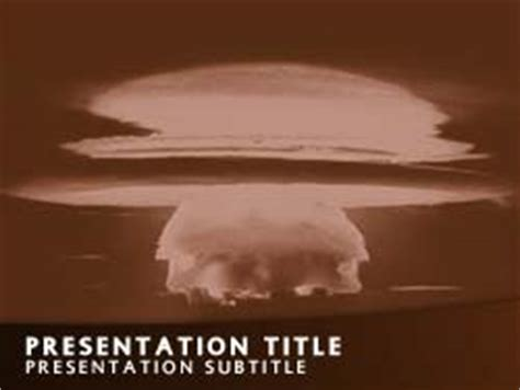 ppt templates for nuclear royalty free nuclear bomb explosion powerpoint template in
