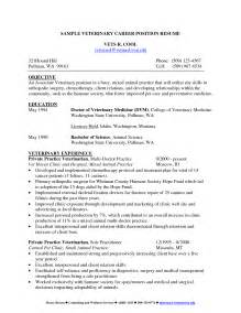 Veterinary Assistant Sle Resume by Resume Exles Vet Assistant Maker Create Professional Receptionist Objective Veterinary Vet