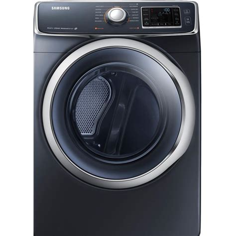 samsung 7 5 cu ft electric dryer with steam in onyx dv45h6300eg the home depot
