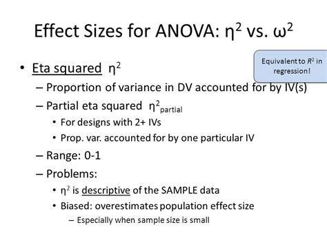 design effect variance effect size tutorial cohen s d and omega squared ppt