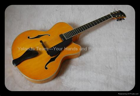 Handmade Electric Guitar - handmade electric jazz guitar with sideport china