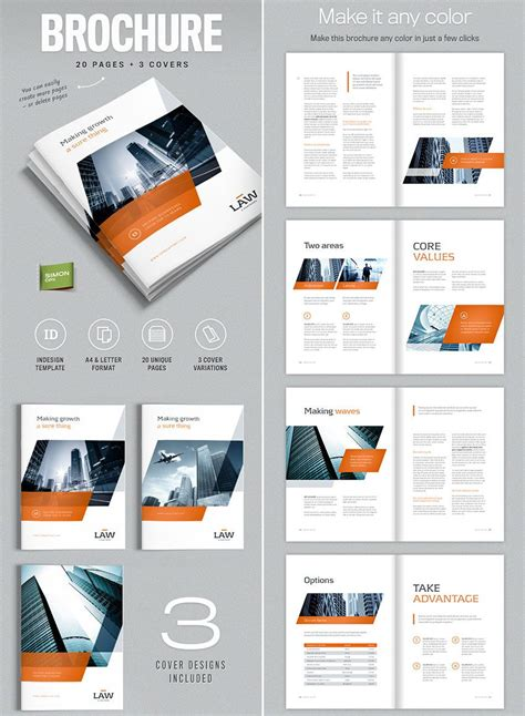 brochure template for indesign a4 and letter amann