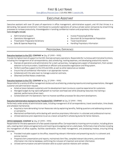 resume template for executive assistant office administrative assistant resume sle