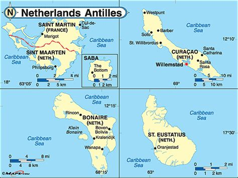 netherlands antilles map netherlands antilles political map by maps from maps