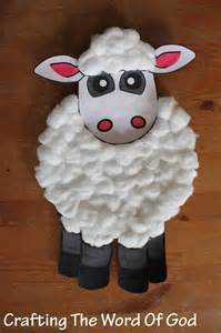 Paper Plate Sheep Craft - israel 171 crafting the word of god