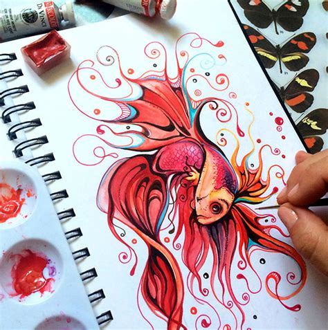 Lukisan Koi Big Myy 12 awe inspiring colorful illustrations work by bucciarelli