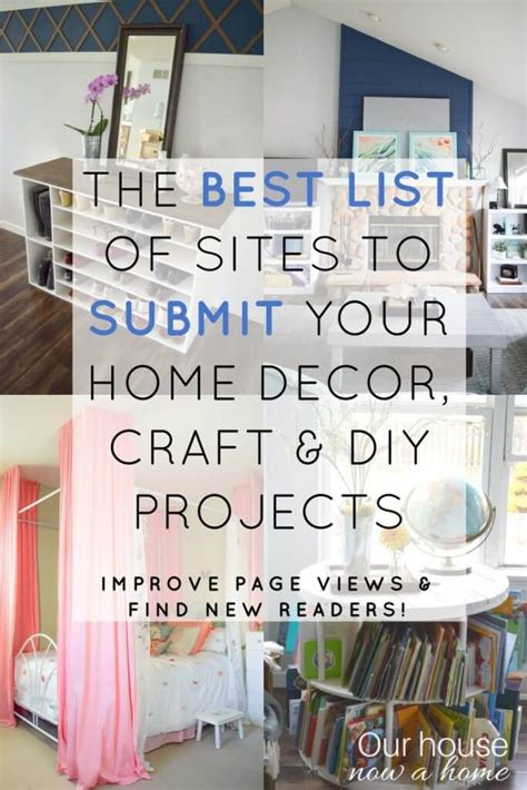 home decorating blog sites a list of sites to submit home decor craft and diy