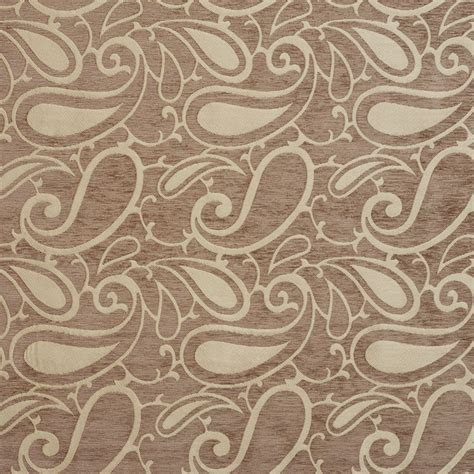 chenille fabric upholstery b0800g light brown woven paisley chenille upholstery fabric