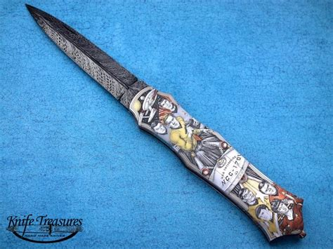 pattern lock maker custom knives hand made by tom overeynder for sale by
