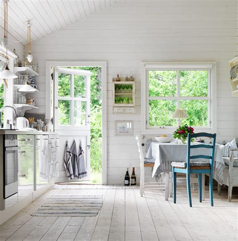 swedish farmhouse style interior summer house seaofgirasoles