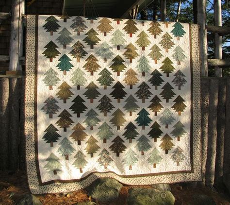 quilt pattern pine tree pine tree quilt machine pieced by theresa callahan over