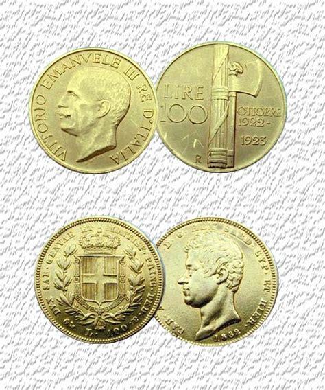 oro italia moneta in oro 100 lire oro italia italia