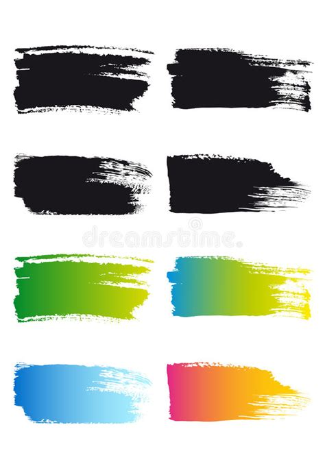 paint brush stroke frames vector stock vector