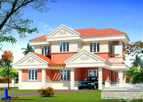 kerala home design front elevation kerala home plan elevation and floor plan 2254 sq ft