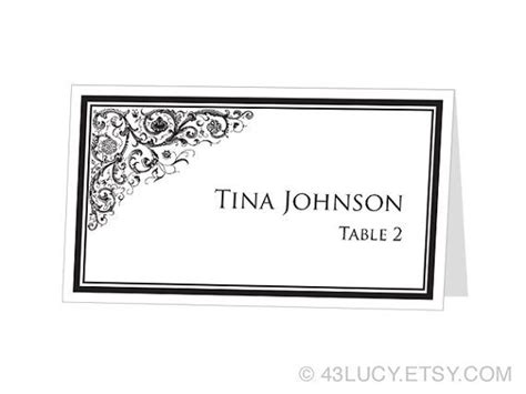 instant download avery place card template ornamental