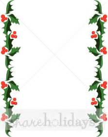 holly and berries side trim christmas borders
