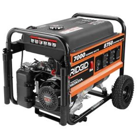 ridgid 7 000 watt gasoline powered portable generator with