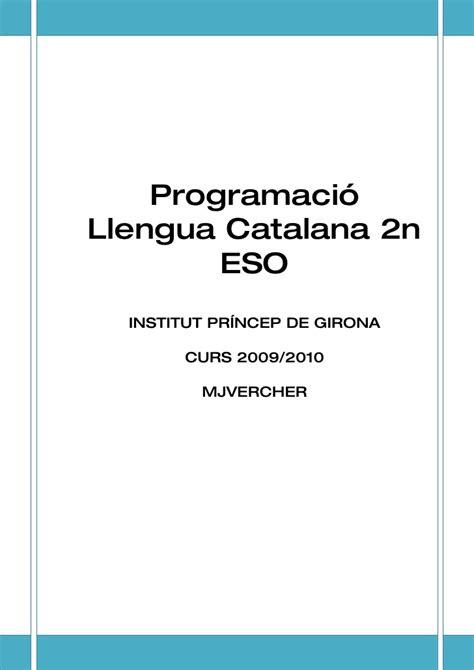 llengua catalana 2n eso programaci 243 2n eso