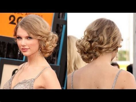 front view of side swept hairstyles messy updo hairstyles how to do taylor swift s messy side