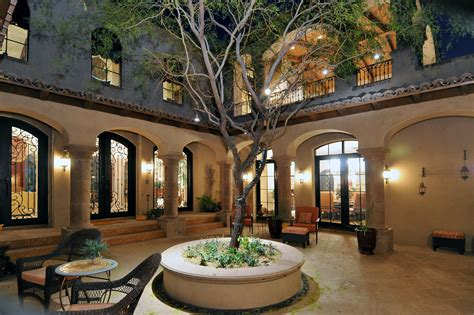 home courtyard style homes with courtyards colonial estate luxury calvis wyant homes
