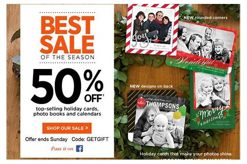 holiday cards coupon code