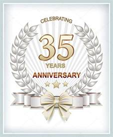 anniversary card for 35 years stock vector 169 seriga 72136231
