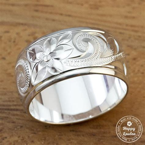 925 Sterling Silver Engraved Ring sterling silver engraved wedding rings engraved
