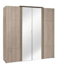 quadrant four door wardrobe with mirror