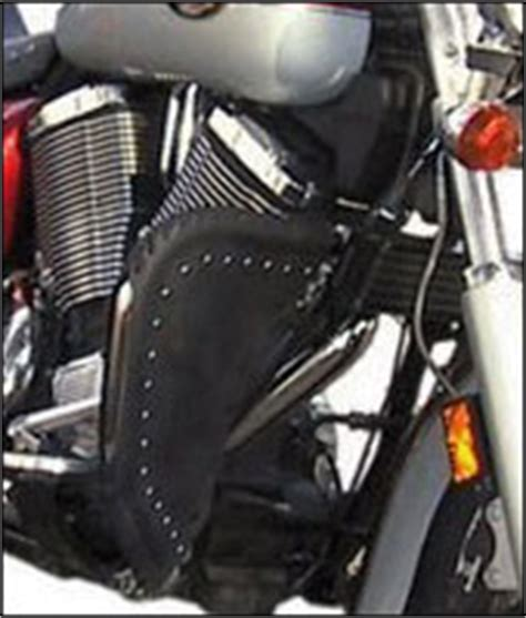 Rugged Leather Bag Motorcycle Engine Guard Chaps Motorcycle Highway Bar Chaps