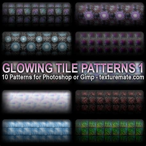 pattern download gimp glowing tiles 1 pattern set for photoshop or gimp