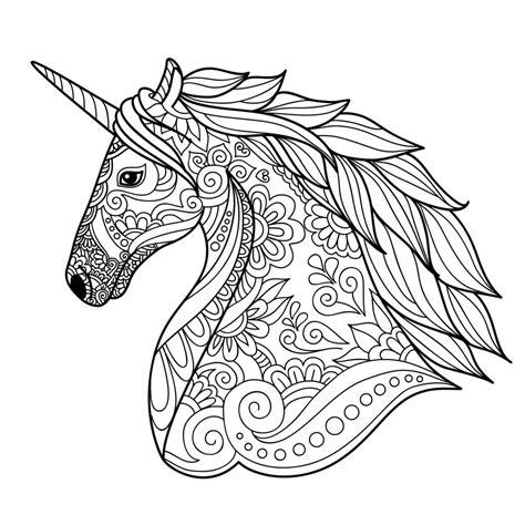 unicorn mandala coloring pages unicorn adult coloring mandala coloring pages