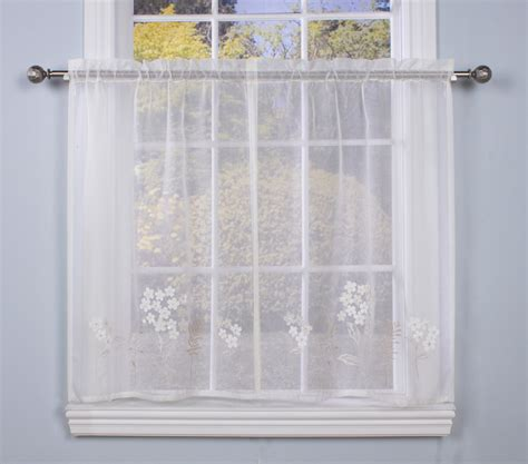 cafe tier curtains cafe tier curtain pair hydrangea bouquet faux linen semi