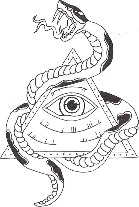 illuminati eye with snake by bradleecharles on deviantart