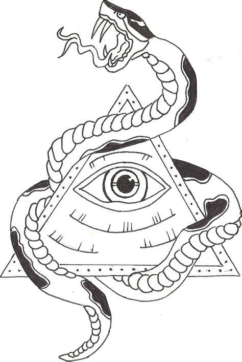 illuminati eye with snake by bradleecharles on deviantart
