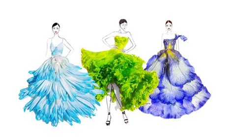 fashion illustration nature inspired by nature floral fashion illustrations by grace ciao