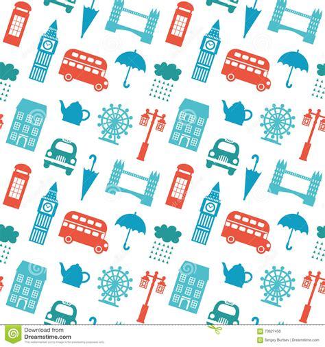 united kingdom pattern seamless pattern with london symbols stock vector image