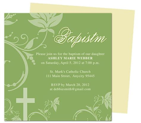 invitation templates for apple pages 10 best images about printable baby baptism and