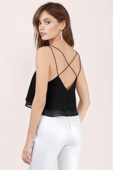 Abela Top 1 black crop top black top strappy top 32 00