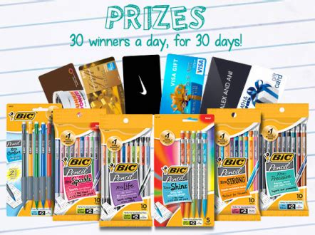 Win Free Stuff Instantly - bic instant win game 900 win a 25 gift card and more
