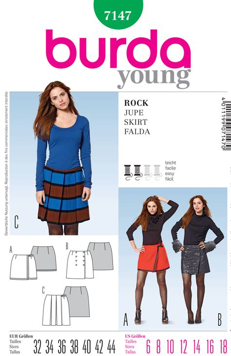 pattern review best of 2012 burda 7147 misses skirt