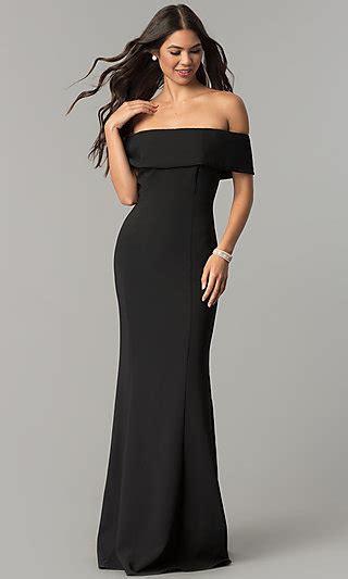 fold  collar long   shoulder formal dress