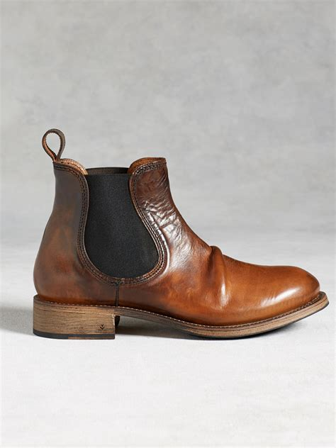 mens vintage chelsea boots varvatos vintage chelsea boot in brown for lyst