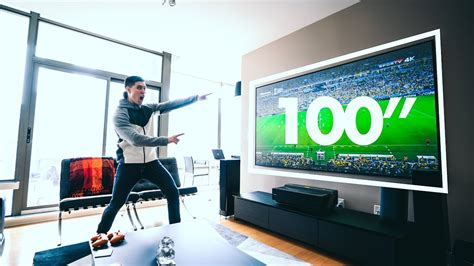 hisense 100 4k ultra hd laser tv the 100 quot 4k laser tv setup